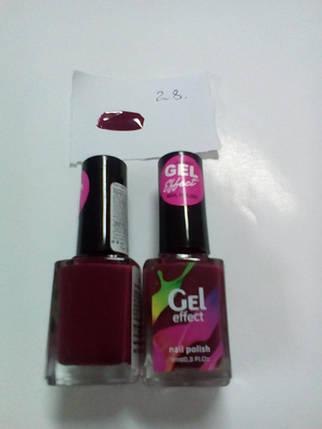 Лак для ногтей Jerden Gel Effect № 28 (красно-фиолетовый) (9мл) , фото 2