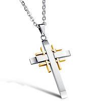 Мужской крестик с цепочкой из нержавеющей стали Азазель 161045