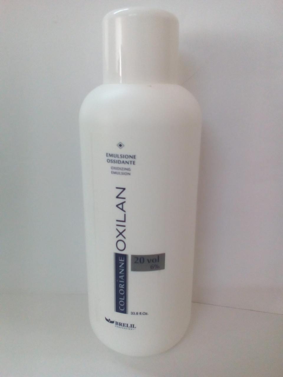 Перекись-эмульсия 6% (20) для осветления волос на 1-2 тона1000мл Brelil