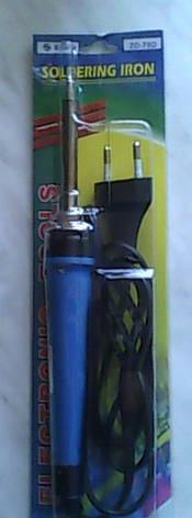 Паяльник с кнопкой ZD-70DA, 20/130W, керам. нагреватель, с колпачком, фото 2