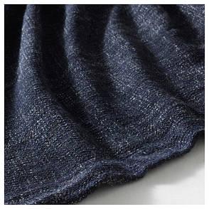 ГУРЛИ Плед, черно-синий, 120x180 см 00326107, IKEA, ИКЕА, GURLI, фото 2