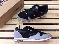Мужские кроссовки Reebok Classic код товара 4S-1023.Черно-серые