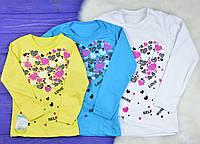 """Детская футболка с длинным рукавом """"Сердце"""" для девочек"""