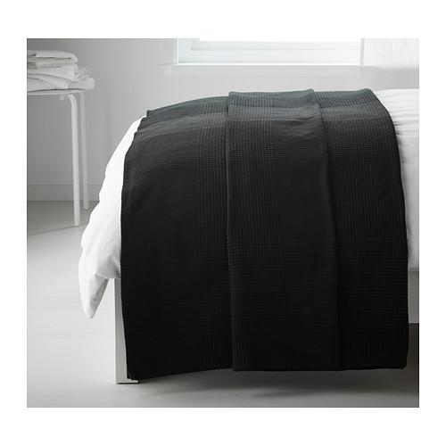 ИНДИРА Покрывало, черный, 150x250 см, 20231226, IKEA, ИКЕА, INDIRA