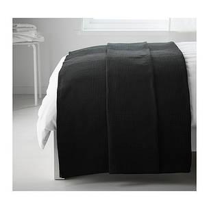 ИНДИРА Покрывало, черный, 150x250 см, 20231226, IKEA, ИКЕА, INDIRA, фото 2