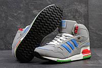 Мужские кроссовки Adidas ZX 750. Кожа. Серые