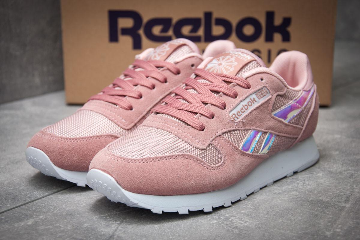 Кроссовки женские 12062, Reebok  Classic, розовые ( 37 40  )