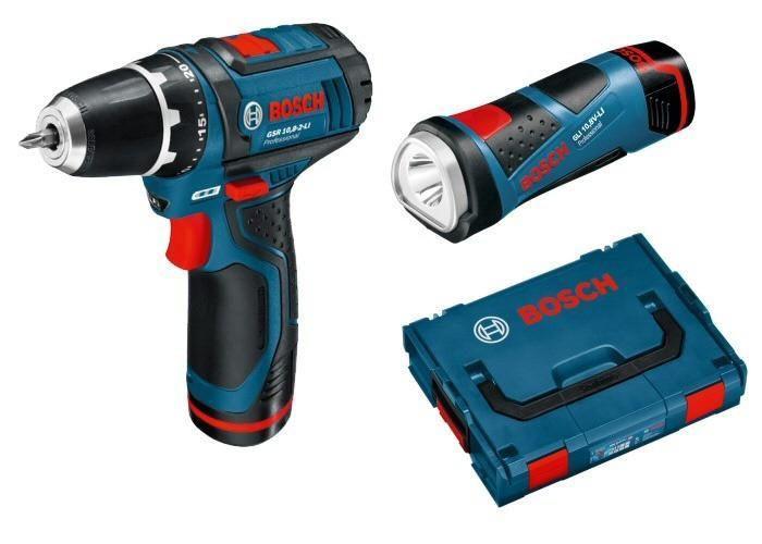 Аккумуляторный  шуруповерт Bosch GSR 12V-15 + фонарик Bosch GLI 12V-80