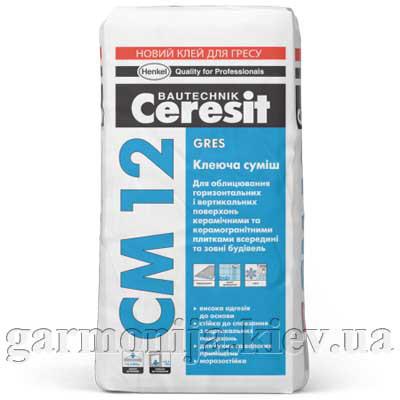Клей для керамогранита Ceresit CM 12 GRES, 25 кг