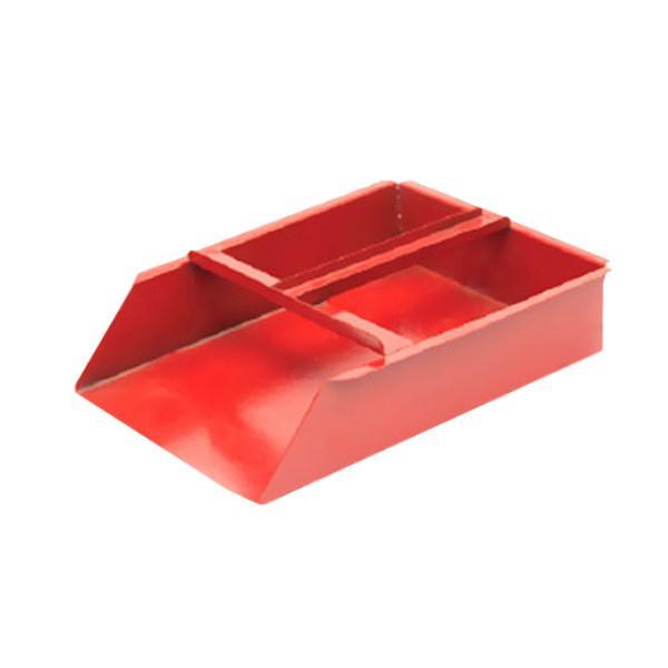 Совок металлический красный