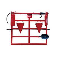 Щит пожарный открытого типа (с комплектацией багор/лом/лопата/топор/ведро 2), Евросервис (000015335)