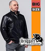 Braggart 1798-1 | Мужская ветровка большого размера весна-осень черная