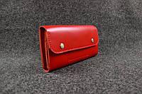 Кожаный кошелек Карин (4 карточки + монетница) | Краст Коралл