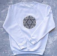 Мандала Любви, вышивка, свитшот унисекс, высокое качество, JH, Испания, размеры XS - 3XL