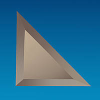 "Плитка зеркальная треугольник 250 х 250 мм ""серебро"" фацет 10 мм"