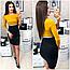 Платье женское, модель 806, горчица с черным, 42, 46 размер, фото 5