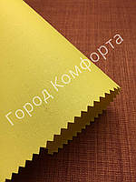 Рулонная штора однотонная светло-желтая