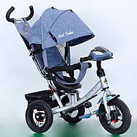Велосипед 3-х колёс. 7700 В - 5120 Best Trike СЕРЫЙ ФАРА, фото 1