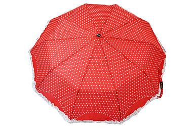 Зонт Горошек с рюшами красный