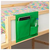 СТИККАТ Карман для кровати, зеленый, 39x30 см, 40296293, IKEA, ИКЕА, STICKAT