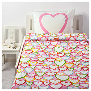 ВИТАМИНЕР ЙЭРТА Постельное белье, разноцветный, 150x200/50x60 см, 80163291, IKEA, ИКЕА, VITAMINER HJÄRT, фото 2