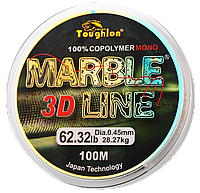 Леска TOUGHLON Marble 3D Line Green 100м. 0,35 (19,61кг.)