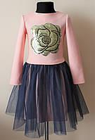 Детское платье для девочки с пайетками 6-14 лет
