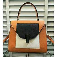 Женская классическая сумка L.D оранжевая , фото 1