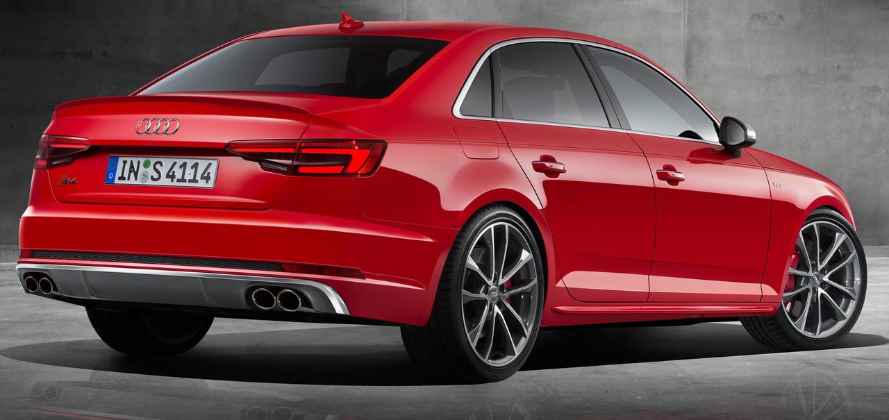 Спойлер сабля на багажник Audi A4 B9 стиль S4