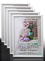 Фоторамки купить оптом, рамка пластиковая для фото А4 (21х29,7) для дипломов, сертификатов, грамот, белая