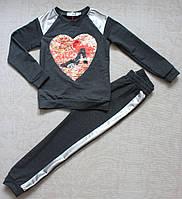 Спортивный костюм для девочку с пайетками,модный, фото 1