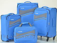 Сумка дорожная Travelite Wave M 4 колеса, синяя