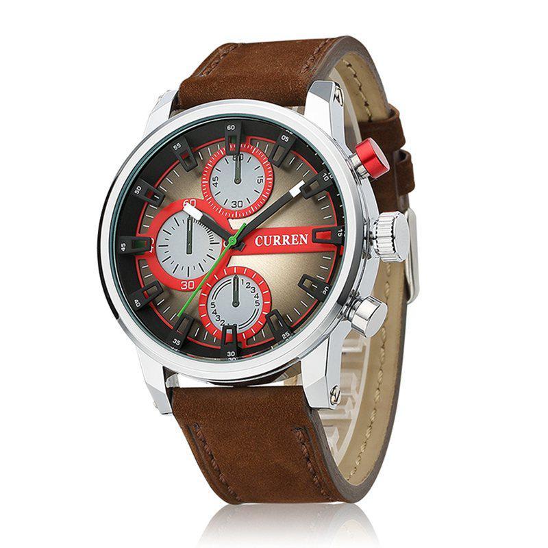 Часы мужские Curren California brown-silver-red