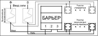 Цифровое реле напряжения Барьер  40А, фото 2