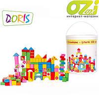 Деревянные кубики 100 эл.  DORIS