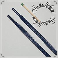 Шнурок плоский пропитка 70 см,темно-синего цвета ширина 5 мм