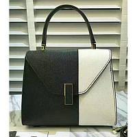 Женская классическая сумка L.D черная с белым, фото 1