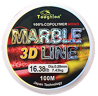 Леска TOUGHLON Marble 3D Line Red 100м. 0,16 (5,32кг.)