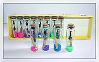 Бутылочки с желаниями на подарок, 12 шт (высота 7.5 см)