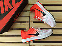 Кроссовки женские Nike Air Max Zoom код товар 4S-1034 Материал верха - текстиль, подошва - пена.Бело-оранжевые