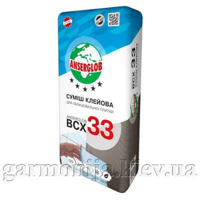 Клей для плитки Anserglob BCX 33, 25 кг, фото 2