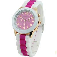 Часы женские наручные Geneva Multicolor crimson (малиновый)