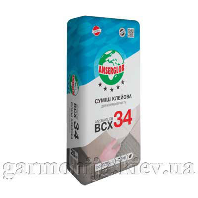 Клей для керамогранита Anserglob BCX 34, 25 кг, фото 2