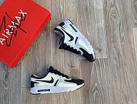 Размер: 41, 42, 43, 44. Кроссовки мужские Nike Air Max Zero, белые с темно-синим, материал-сетка