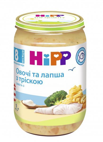 Пюре HiPP Лапша с морской рыбой и овощам, 220 г