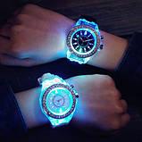 Часы Geneva White Light наручные белые, фото 3