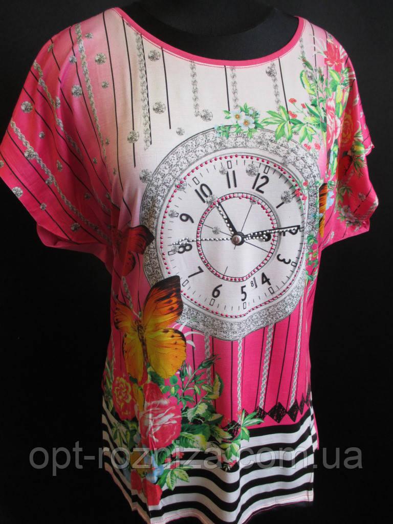 Женские летние футболки с цветами.