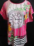 Женские летние футболки с цветами., фото 2