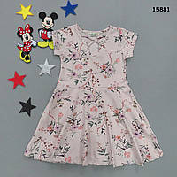 Летнее платье для девочки.  5-6;  6-7 лет