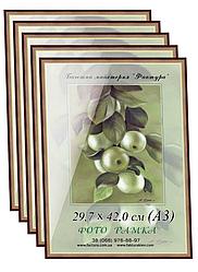 Фоторамки купить оптом, рамка пластиковая для фото А3 (29,7х42) для дипломов, сертификатов, грамот, бронза